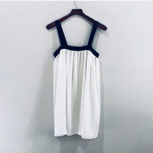 NWT ASOS white chiffon dress with black straps
